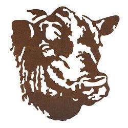 Bull Metal Garden Wall Art
