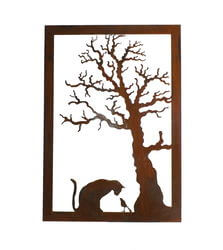 Cat and Bird Wall Art Panel 2