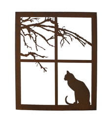 Cat on A Windowsill Wall Art
