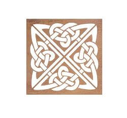 Celtic Square Metal Garden Wall Art
