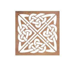 Celtic Square Metal Garden Wall Art