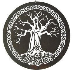 Celtic Tree Metal Garden Wall Art