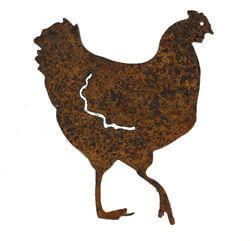 Chook Magnet Garden Art