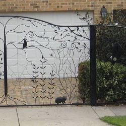 Wrought Iron Gate by Overwrought -  Cockatoo Gate right