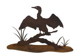 Cormorant Stand Garden Art