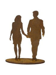 Couple Walking Garden Art