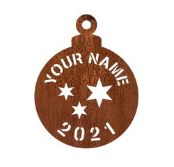 Customised Christmas Bauble for 2021