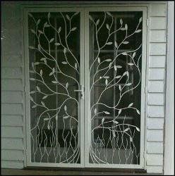 Security Screen Door by Overwrought - Double Tree Doors
