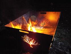Dragon Fire Pit Portable Garden Art