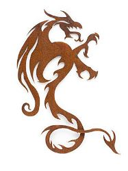 Dragon Metal Garden Wall Art