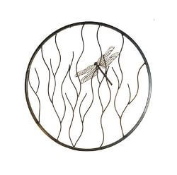 Dragonfly on Branches Round Garden Wall Art