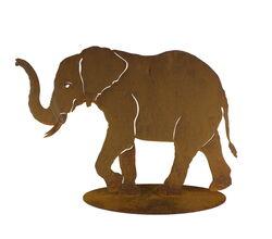 Elephant Stand Large Garden Art