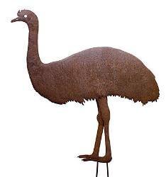 Emu - metal garden art