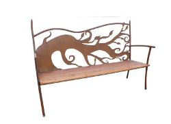 Fallen Tree Outdoor Garden Bench Seat