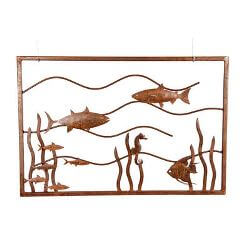 Fish Tank Metal Garden Wall Art