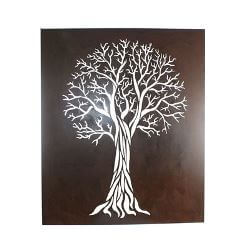 Flame Tree Box Metal Garden Wall Art