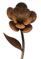Flower Two Garden Stake