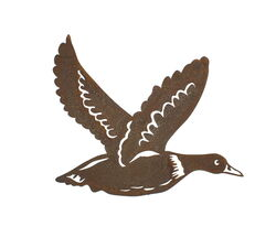 Flying Duck Small Metal Wall Art