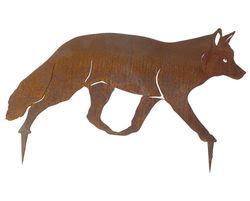 Fox Walking Stake Garden Art