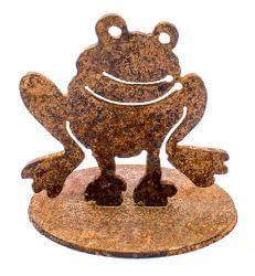 Frog Stand Garden Art