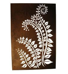 Fronds Box Metal Garden Wall Art