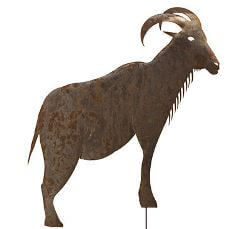 Goat Stake Garden Art