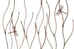 Grass with Dragonflies Garden Stake