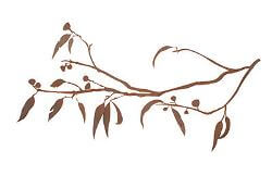 Gum Branch Metal Garden Wall Art