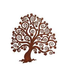 Heart Tree Metal Garden Wall Art