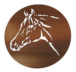 Horse Metal Garden Wall Art
