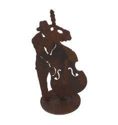 Jazz Double Bass Player Garden Art