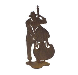Jazz Double Bass Player Medium Stand Garden Art