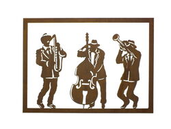 Jazz Trio Metal  Wall Art