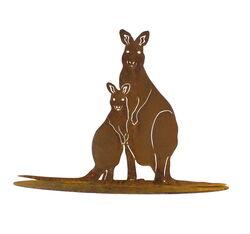 Kangaroo and Joey Standing Garden Art