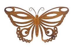 Butterfly Metal Garden Art  No 2 Wall Art