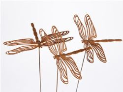 Garden stakes By Overwrought - Large Dragonfly Garden Stake
