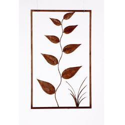 Large Leaves Metal Garden Wall Art Panel