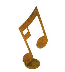 Large Music Note Stand Garden Art