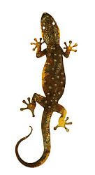 Large Spotted Gecko with Curled Tail Garden Art