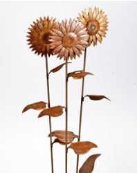 Large Sunflower Garden Stake Metal Garden Art
