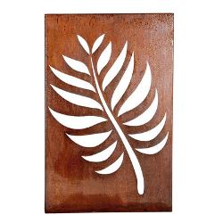 Leaf Box Metal Garden Wall Art