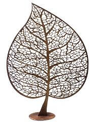 Leaf Skeleton Silhouette  Sculpture