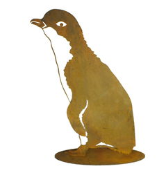 Little Penquin Two Stand Garden Art