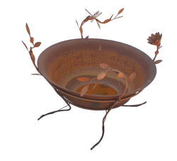 Medium Dragonfly and Lotus Fire Bowl