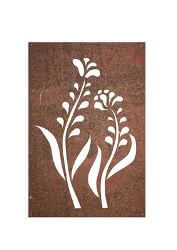 Mod Flower Metal Garden Wall Art Panel One