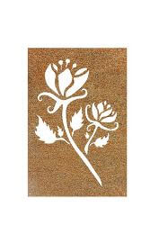 Mod Flower Metal Garden Wall Art Panel Two