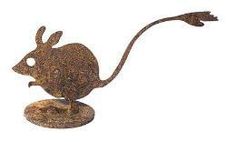 Native Hopping Mouse Metal Garden Art