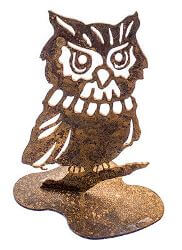Owl Metal Garden Art
