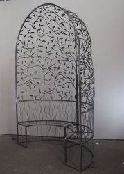 Unique Australian made wrought iron Pergola Furniture By overwrought - Pergola Seat