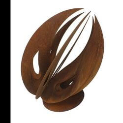 Pod  Abstract metal garden sculpture No 25